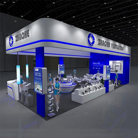 苏州兆和通风制造设备有限公司展台设计,展台搭建